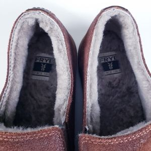 Frye Shoes - Frye Gemma Slip Shearling Loafer Shoes Size 8